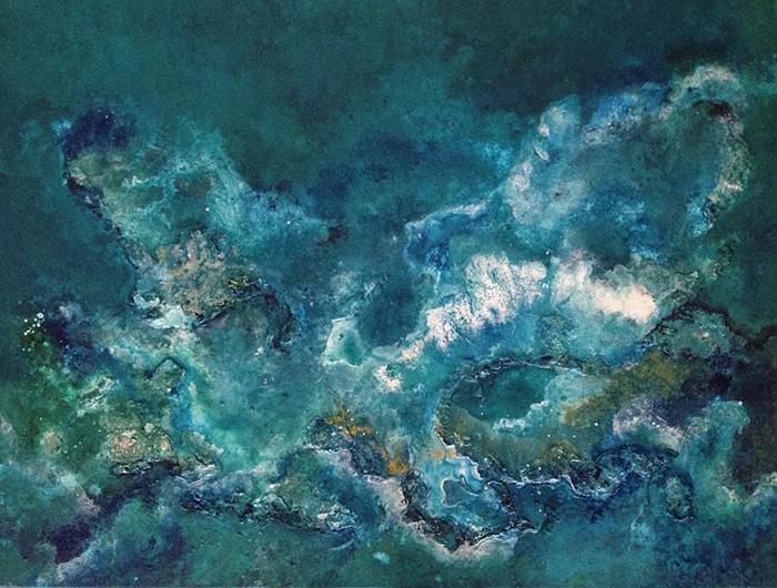 vanessa mae ocean waves paintings aquatic rocks