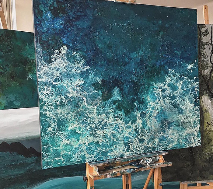 vanessa mae ocean waves paintings bird view