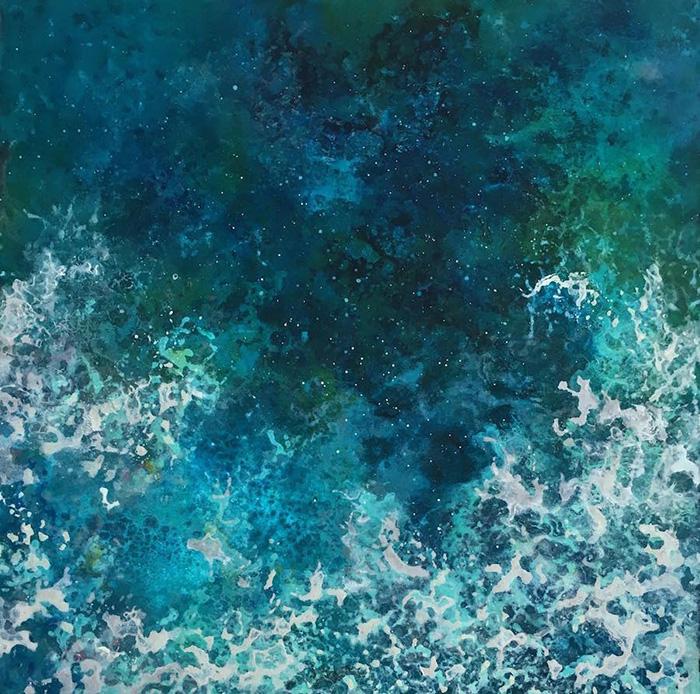 vanessa mae ocean waves paintings detail