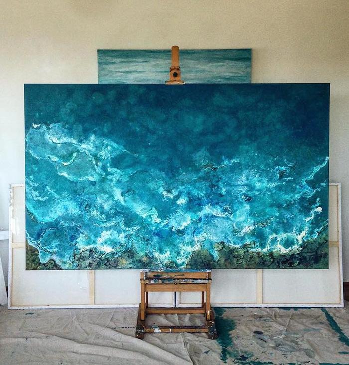 vanessa mae ocean waves paintings gentle splash
