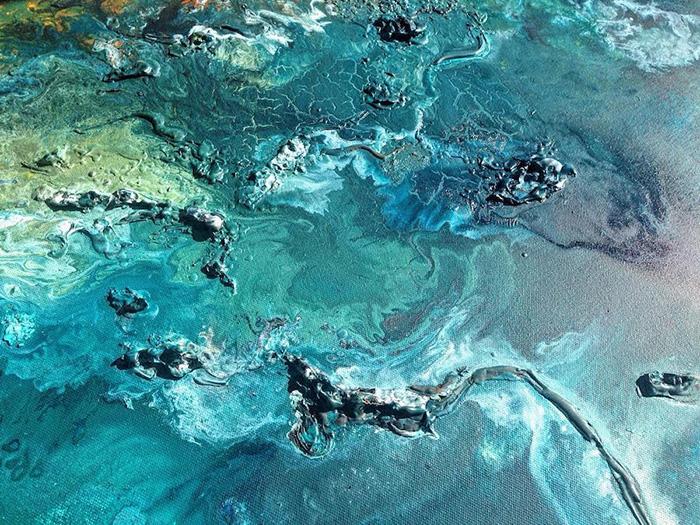 vanessa mae ocean waves paintings paint layers