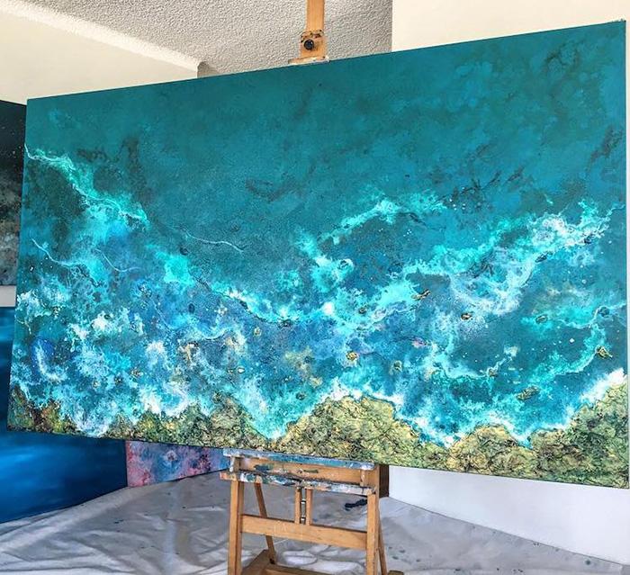 vanessa mae ocean waves paintings seashore