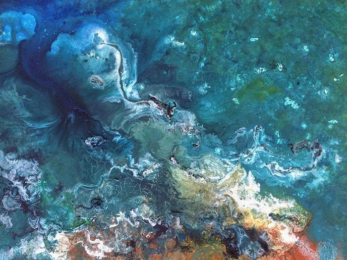 vanessa mae ocean waves paintings semi-abstract