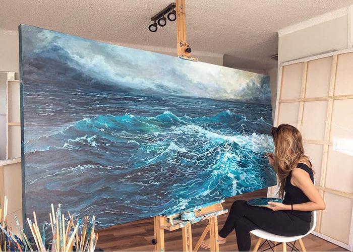 vanessa mae ocean waves paintings