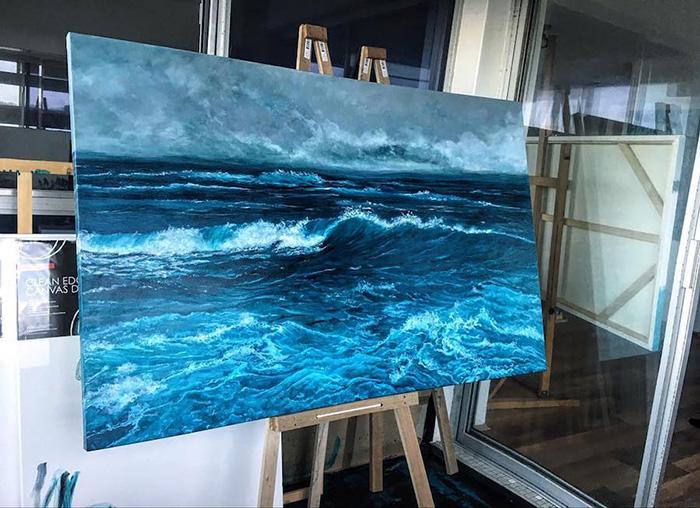 vanessa mae splashing ocean waves paintings