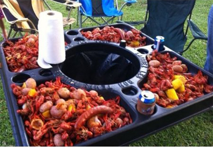 walmart crawfish table seafood cookout