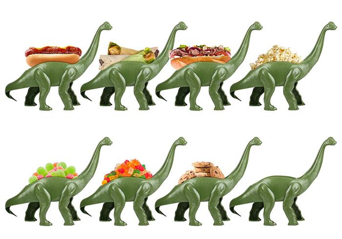 weeniesaurus hotdog and snack holder