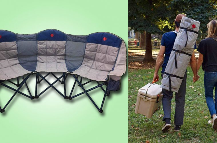 3-person folding chair