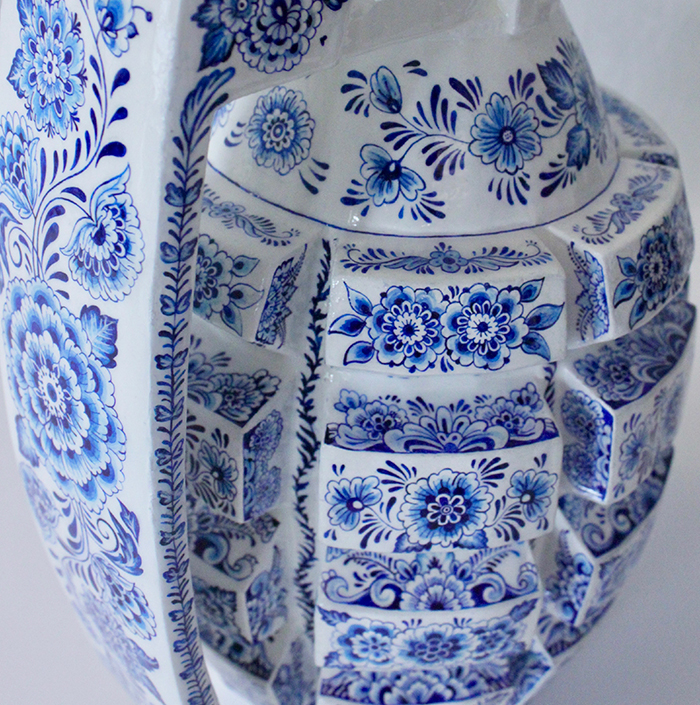 A closer look at the intricate details on the Porcelain Weapon Grenade
