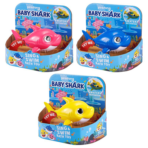 Baby Shark Bath toys in packaging