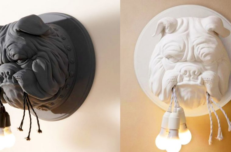 Bulldog wall light sconce