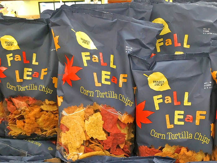 A Bunch of Fall Leaf Shaped Tortilla Chips