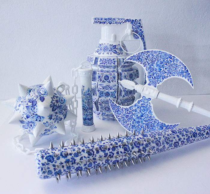 Helena Hauss Sculptures Hell Hath No Fury Porcelain Weapons
