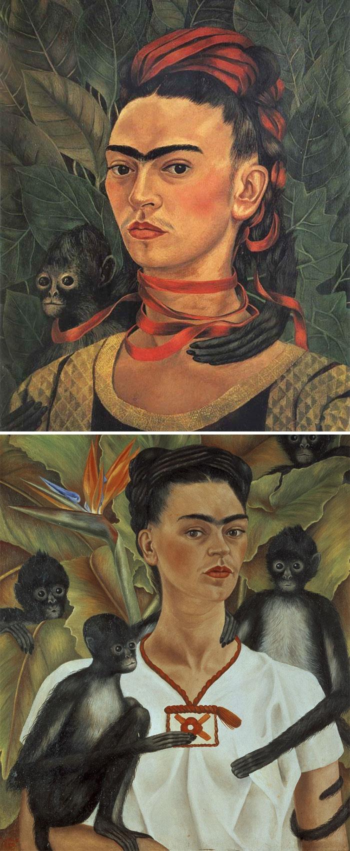 how to recognize famous painters- kahlo