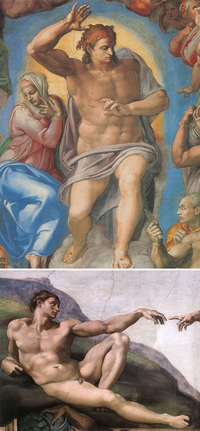 how to identify famous painters - michelangelo