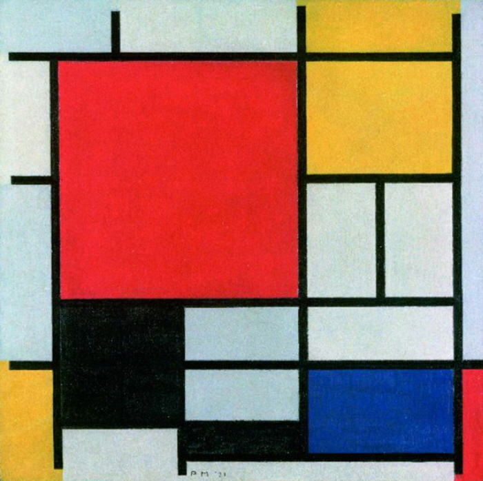 how to identify famous painters - mondrian