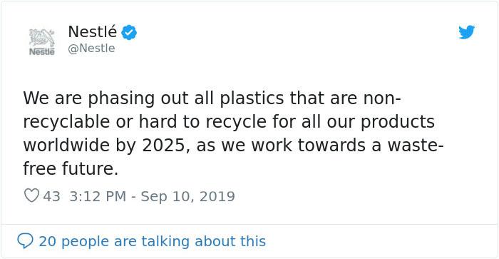 Nestlé's tweet