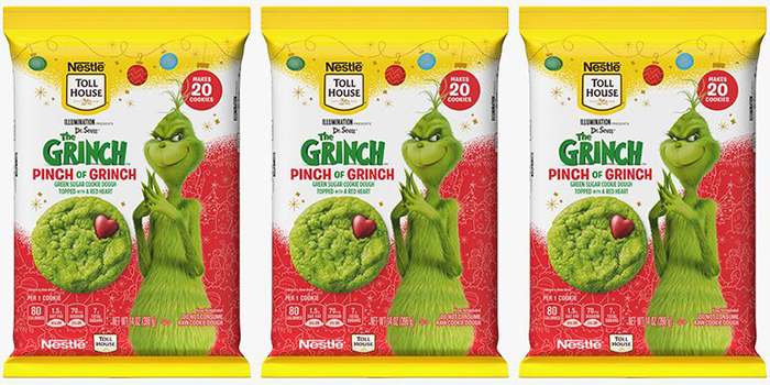 Three Packs of Pinch of Grinch Cookie Dough
