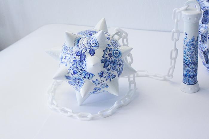 Porcelain Weapon Military Flail