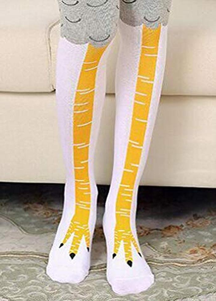 amazon chicken leg socks white