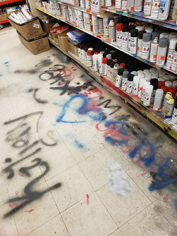 bad customers spray paint test