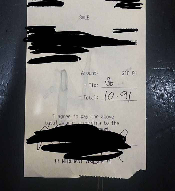 bad customers tip dick drawing