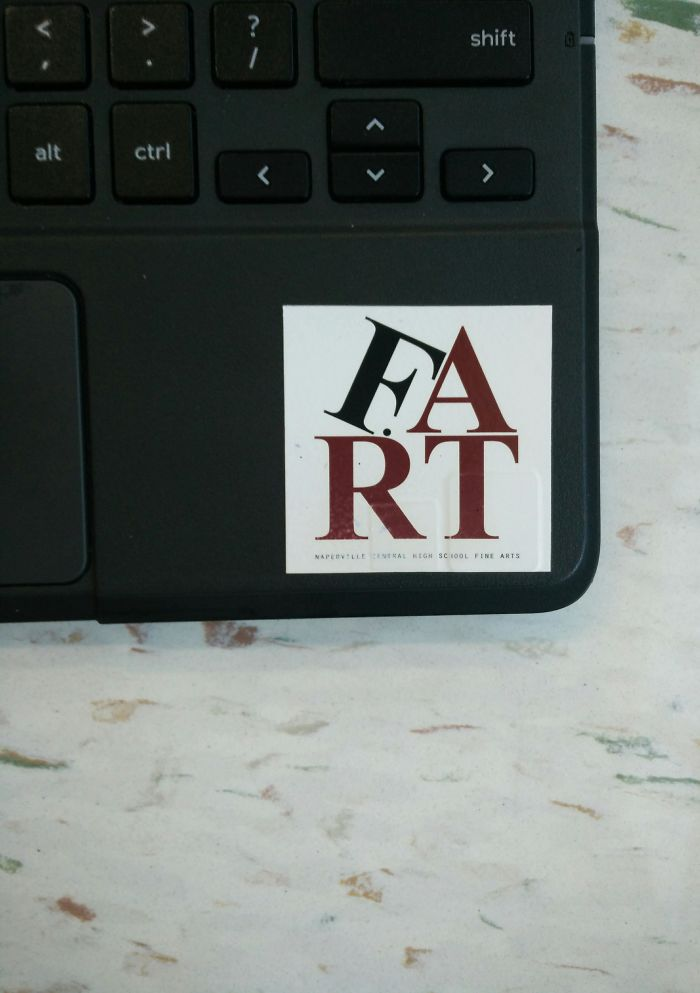 bad school designs fart logo