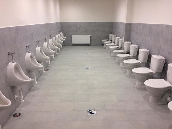 bad school designs gym toilet