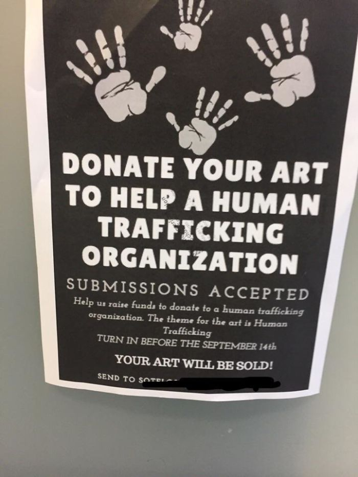 bad school designs human trafficing poster