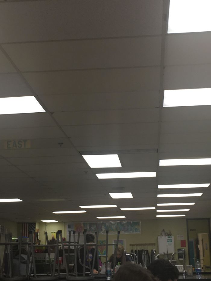 bad school designs lights all over the place