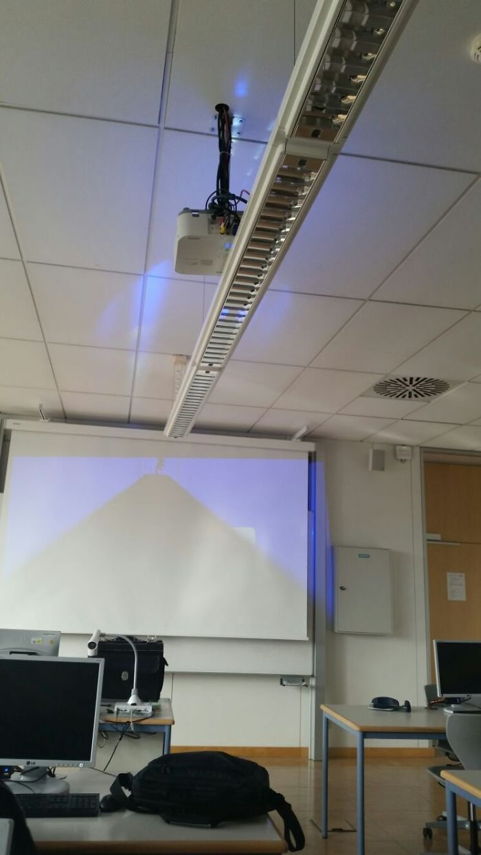 bad school designs projector obstruction