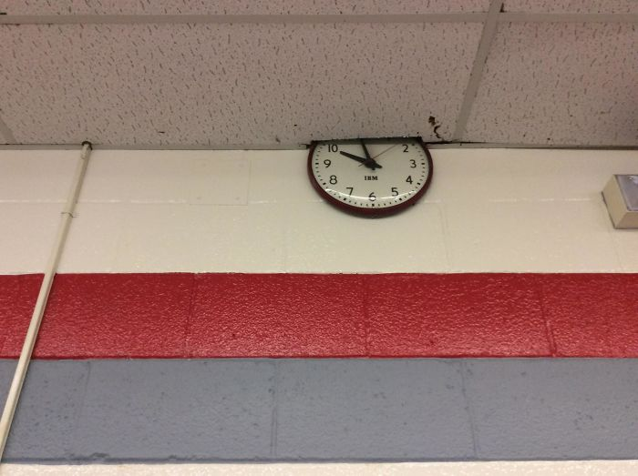 bad school designs wall clock