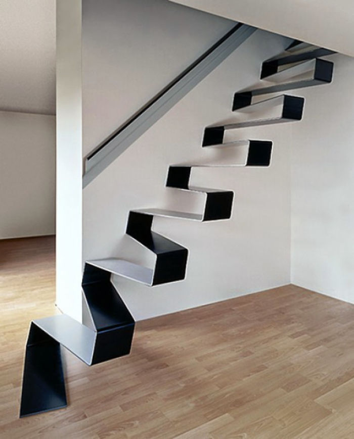 bad stair designs thin continuous line