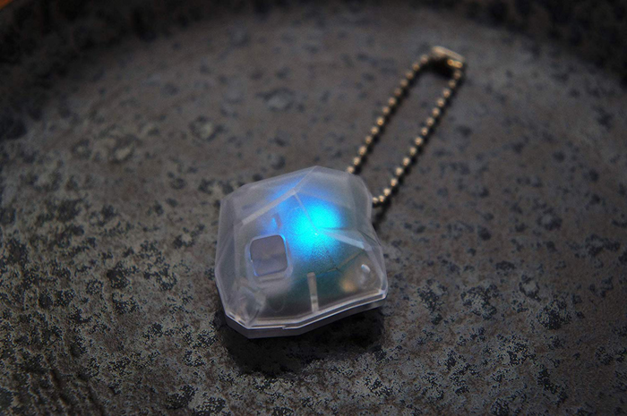 baketan reiseki ghost-detecting stone blue light