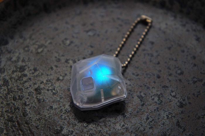 baketan reiseki ghost-detecting stone blue light