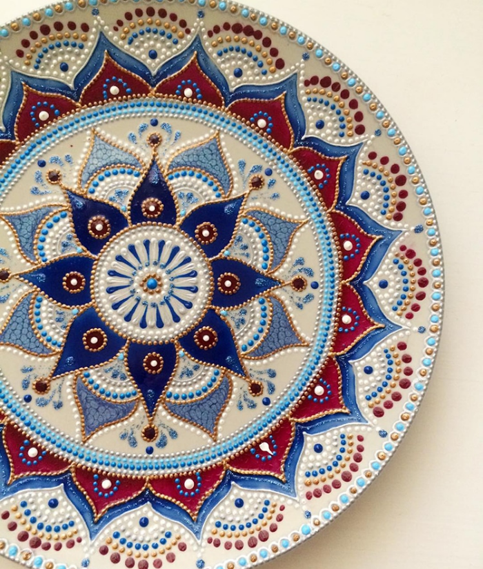 beautiful and mesmerizing mandala art ceramic plates anastasia safonov