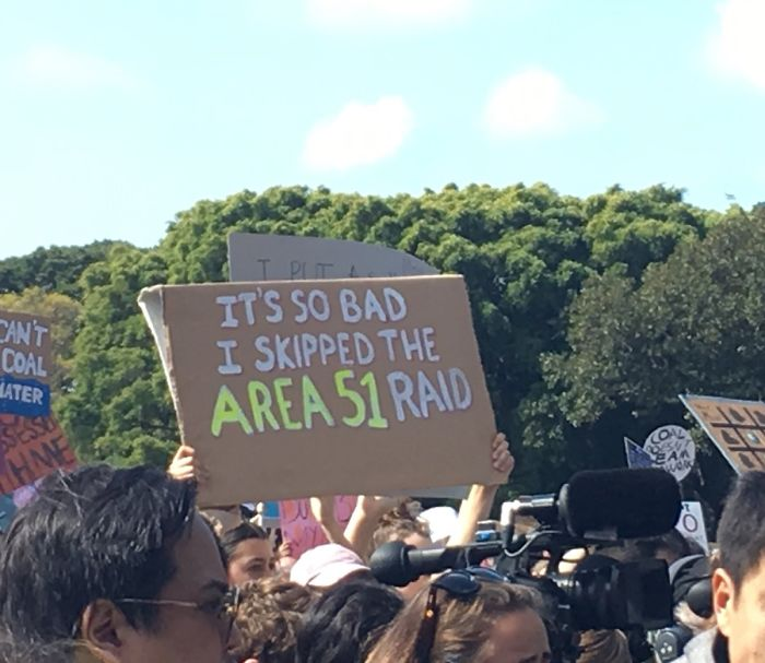 best climate strike signs area 51 raid skipped