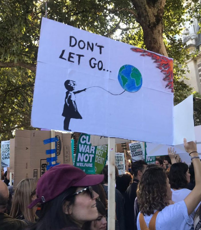 best climate strike signs earth on fire