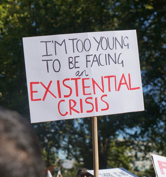 best climate strike signs existential crisis