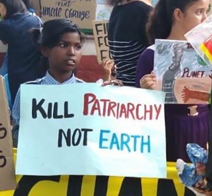 best climate strike signs kill patriarchy