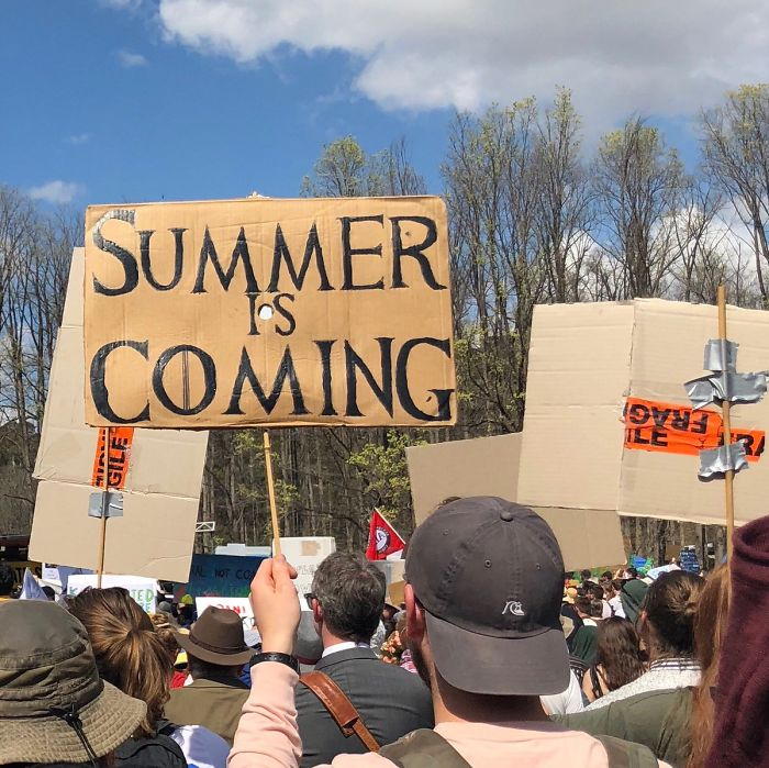 best climate strike signs summer is coming
