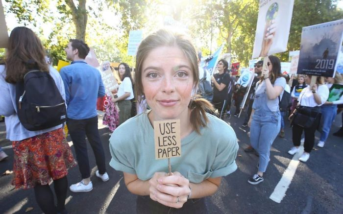 best climate strike signs use less paper