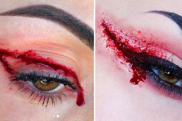blood eyeliner