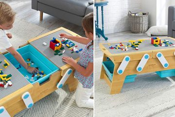 building bricks table