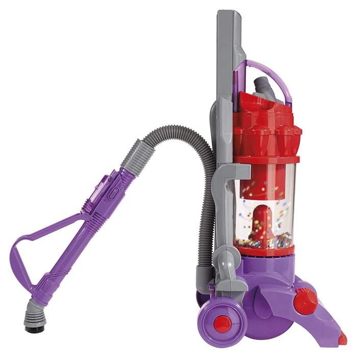 casdon dyson vacuum toy purple working suction