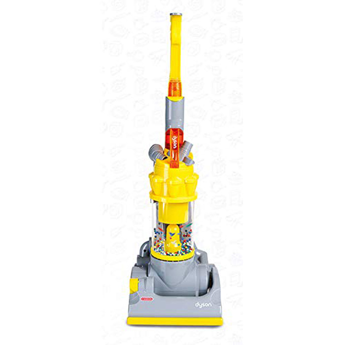 casdon dyson vacuum toy yellow