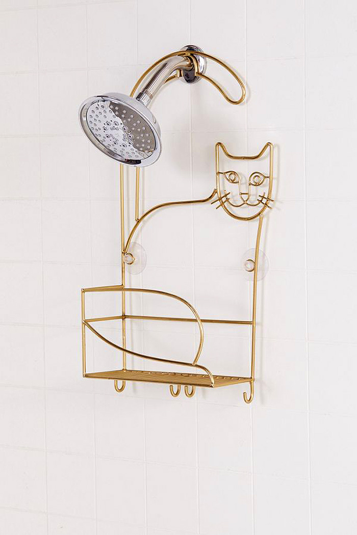 cat shower caddy urban outfitters
