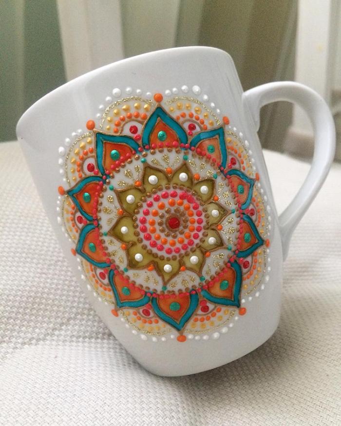 central design mandala art ceramic plates anastasia safonov
