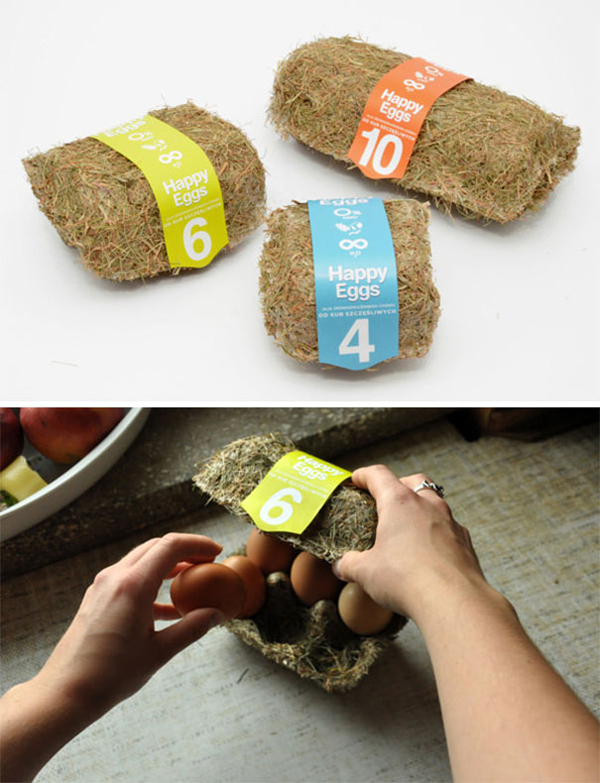 clever eco-friendly ideas egg carton hay