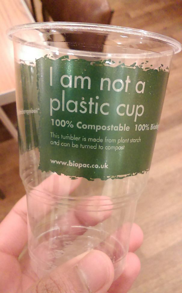 clever eco-friendly ideas plant starch cup